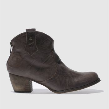 Red Or Dead Brown Mountain Fleece Womens Boots