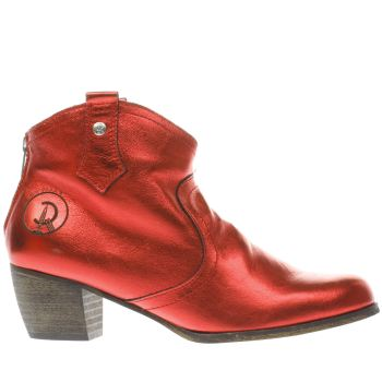 RED OR DEAD RED MOUNTAIN METALLIC BOOTS