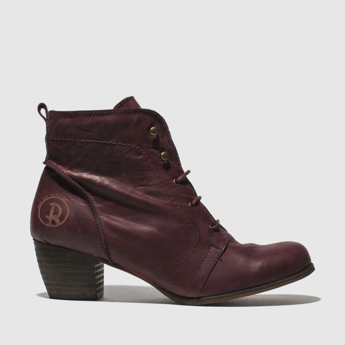 012f667b2 Red Or Dead Burgundy Exam Boots