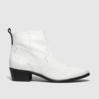 Red Or Dead White Oklahoma Womens Boots