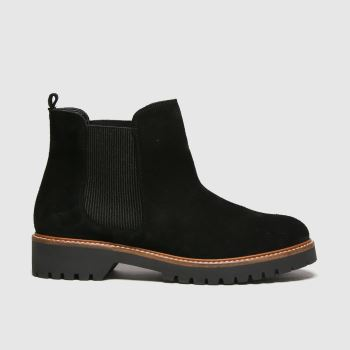 Red Or Dead Black Rita Chelsea Suede Boots