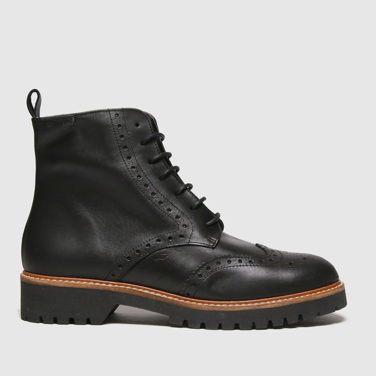 RED OR DEAD Black Robin Brogue Lace Up Boots
