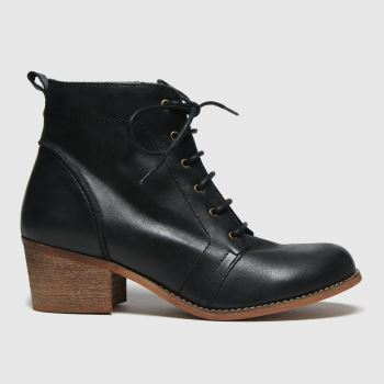 Red Or Dead Black Revision Leather Lace Up Womens Boots