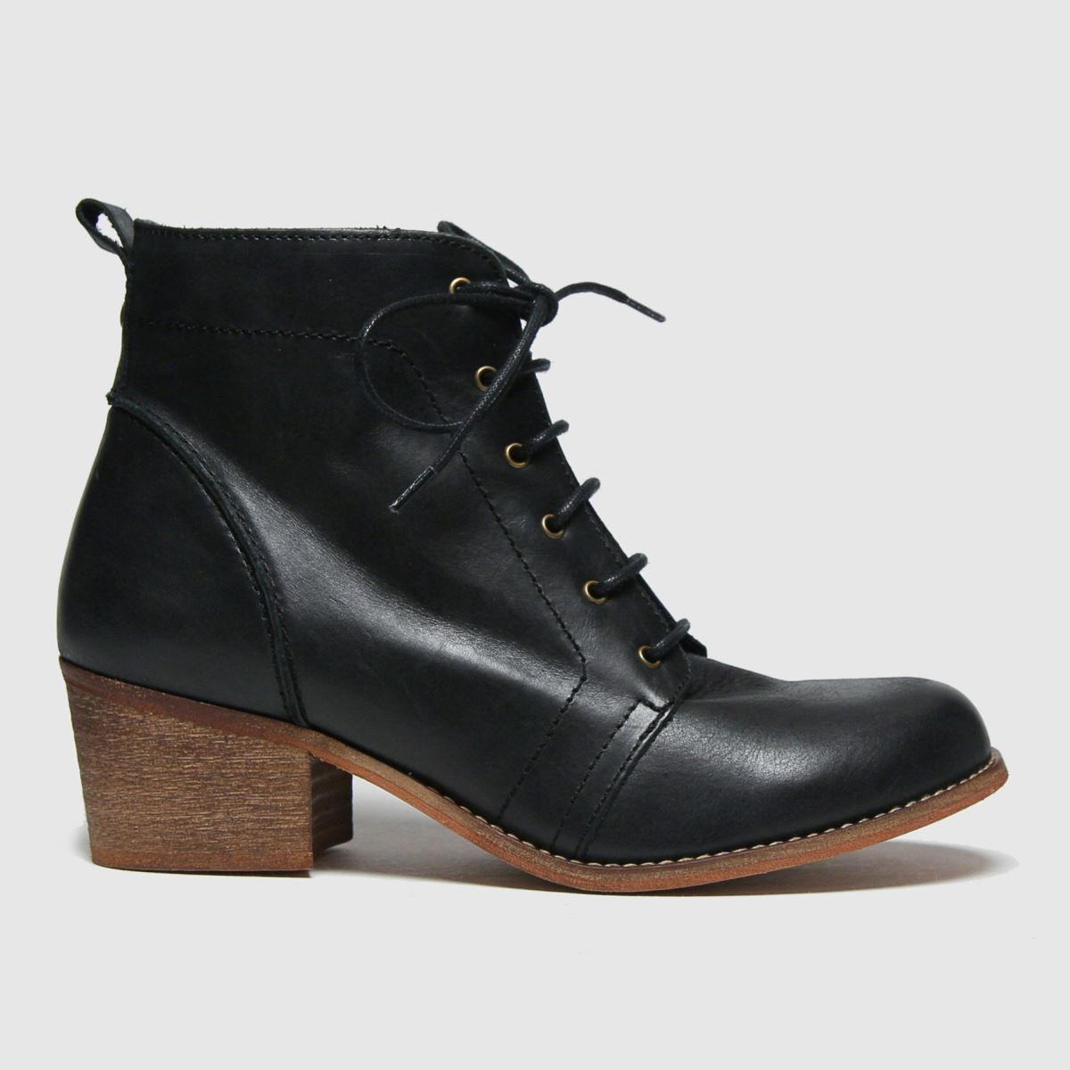 RED OR DEAD Black Rod Revision Leather Lace Up Boots