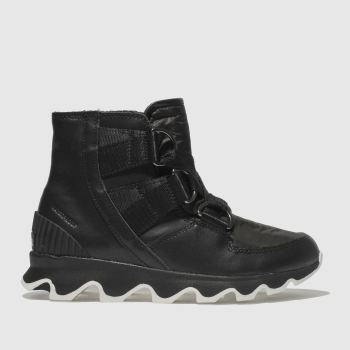 Sorel Black Kinetic Short Lace Womens Boots