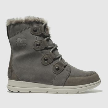 Sorel Grey Explorer Joan Womens Boots