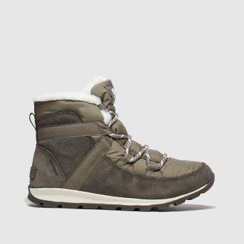 Sorel Khaki Whitney Flurry Womens Boots