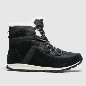 Sorel Black Whitney Flurry Womens Boots