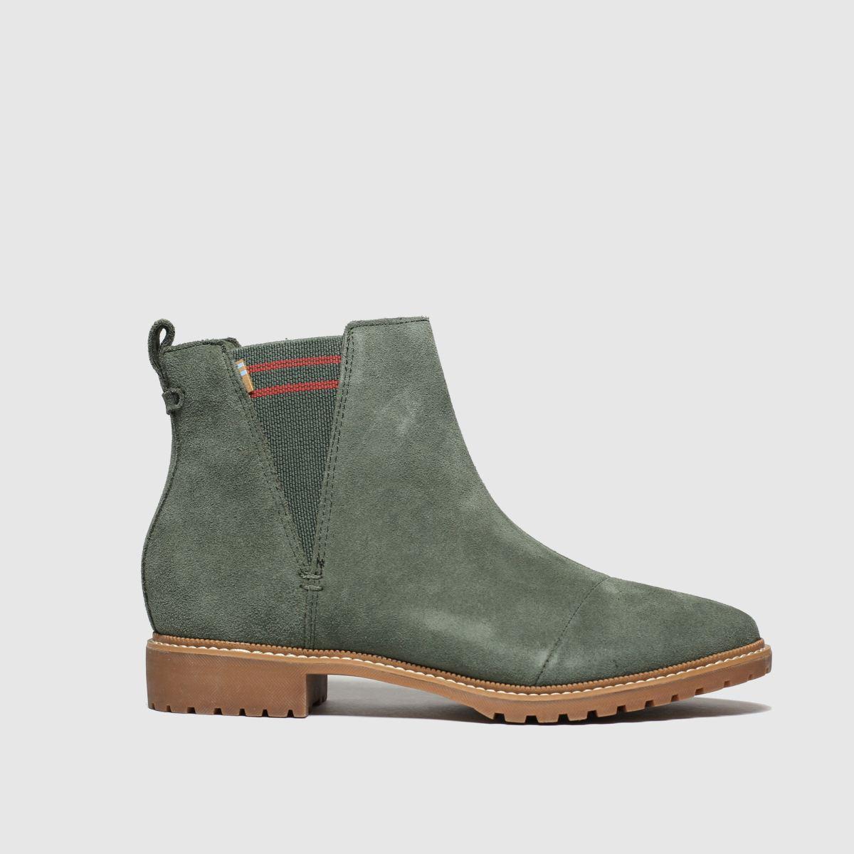 Toms Khaki Cleo Boots