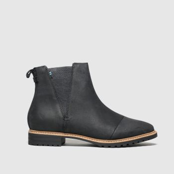 Toms Black Cleo Womens Boots