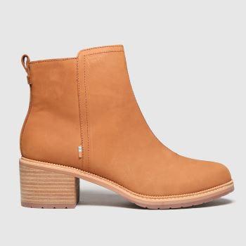 TOMS Tan Marina Womens Boots