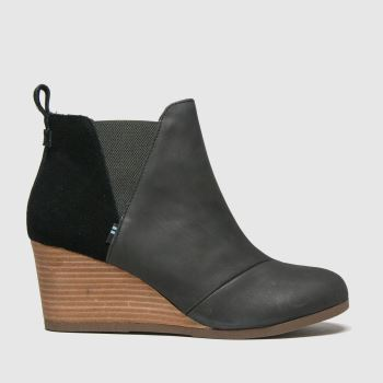 TOMS Black Kelsey Womens Boots