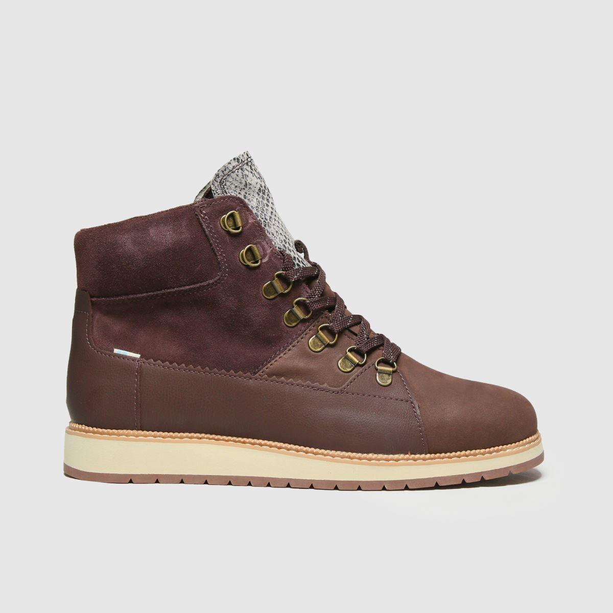 TOMS Burgundy Mesa Boots