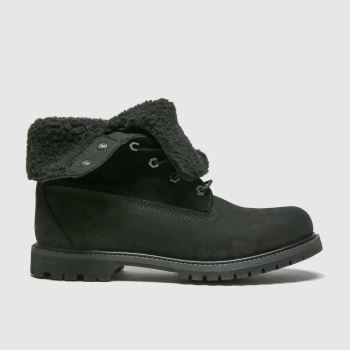 Timberland Black Authentic Teddy Fleece Womens Boots#