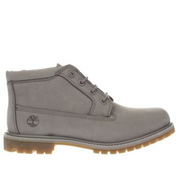 TIMBERLAND LIGHT GREY NELLIE CHUKKA DOUBLE BOOTS