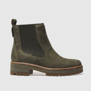 09109f2554b434 Timberland Khaki Courmayeur Valley Chelsea Womens Boots
