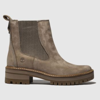 Timberland Grey Courmayeur Valley Chelsea Womens Boots 9cca74684