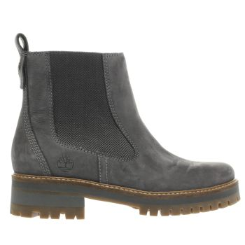 TIMBERLAND DARK GREY COURMAYEUR VALLEY CHELSEA BOOTS