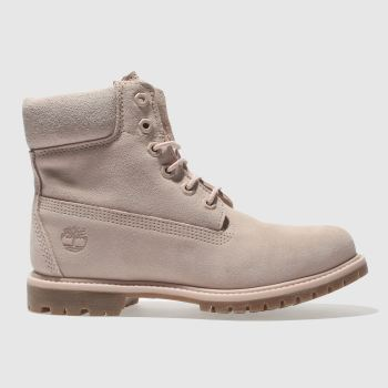 Timberland Pink 6 Inch Premium Suede Boot Womens Boots