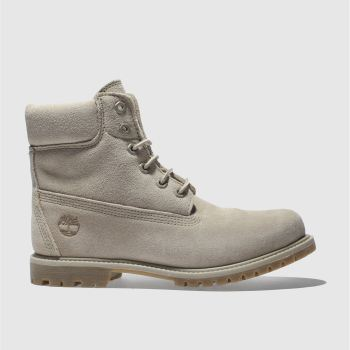 Timberland Beige 6 Inch Premium Suede Womens Boots