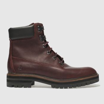 "Timberland Burgundy LONDON SQUARE 6"" Boots"