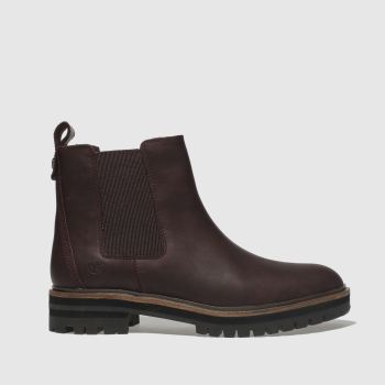 Timberland Burgundy London Square Chelsea Womens Boots
