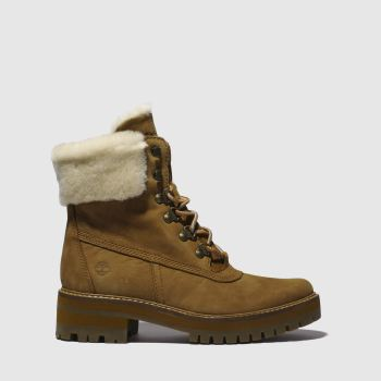 Timberland Tan Courmayeur Valley Shearling Womens Boots
