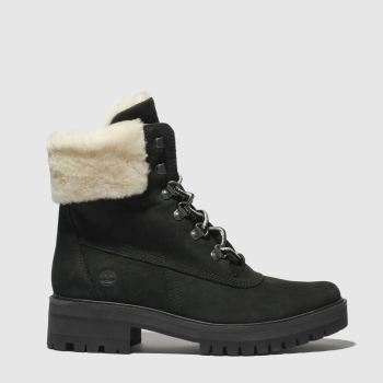 Timberland Black Courmayeur Valley Shearling Womens Boots