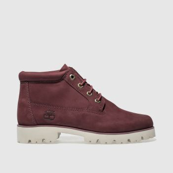 Timberland Burgundy Heritage Lite Nellie Womens Boots