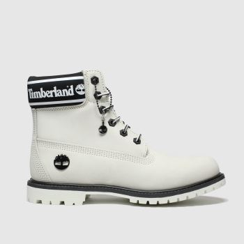 "Timberland White & Black 6"" ICON LOGO BOOT Boots"