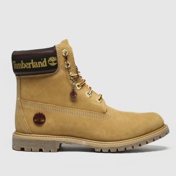 "Timberland Tan 6"" Icon Logo Boots"