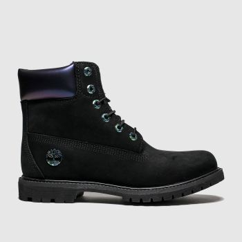 Timberland Black 6 Inch Icon Iridescent Womens Boots