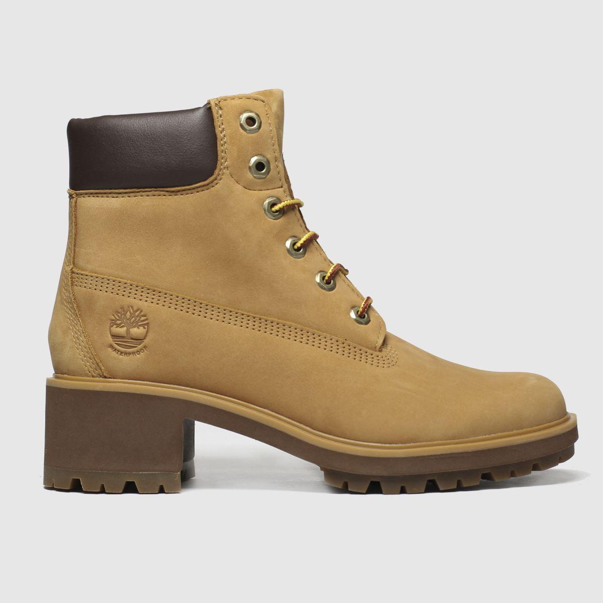Timberland Tan 6 Inch Kinsley Heel Boots
