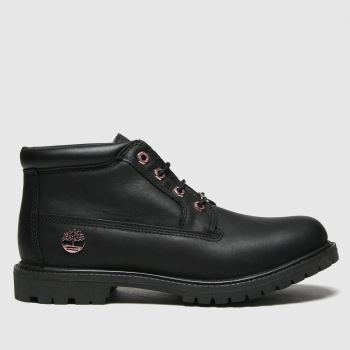 Timberland Black & Gold Nellie Chukka Womens Boots