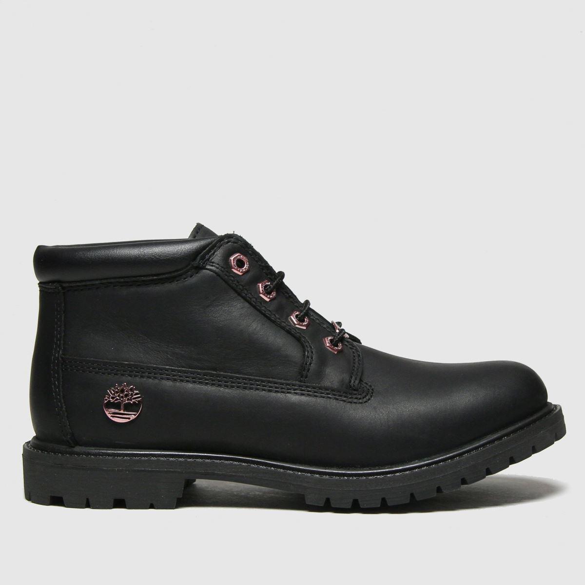 Timberland Black & Gold Nellie Chukka Boots