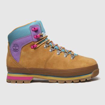 Timberland Tan Euro Hiker Womens Boots