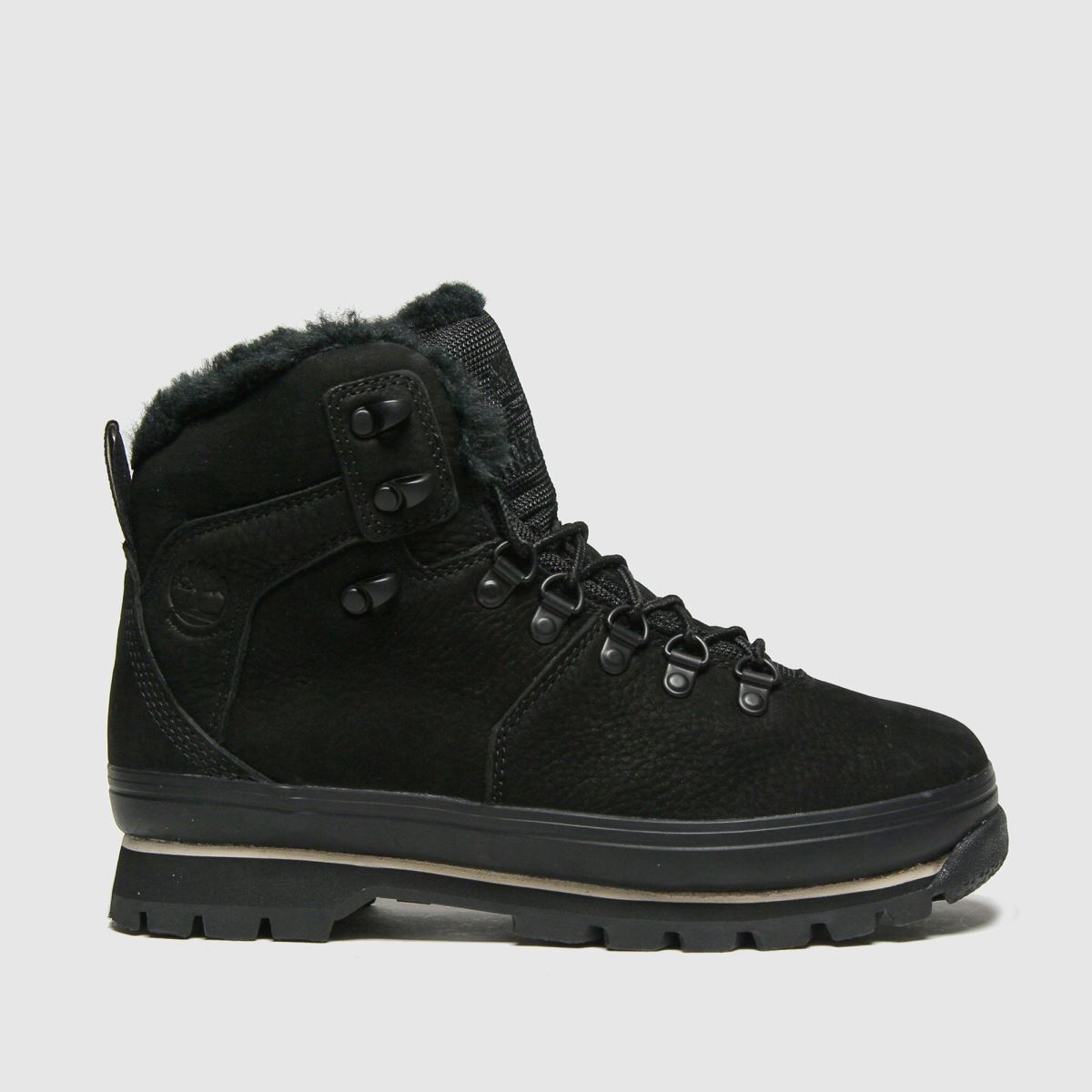 Timberland Black Euro Hiker Warm Lined Boots