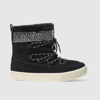 TOMS BLACK & WHITE ALPINE BOOT BOOTS