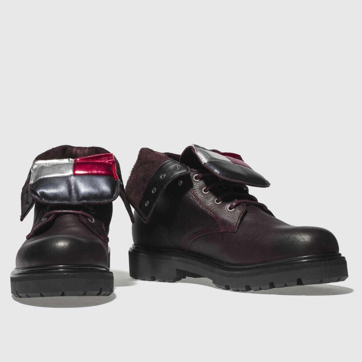 Damen Big Weinrot tommy hilfiger Tj Big Damen Flag Lace Up Boots   schuh Gute Qualität beliebte Schuhe 204016