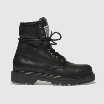 Tommy Hilfiger Black BIG FLAG SPARKLE Boots