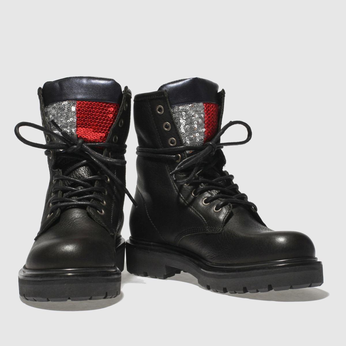 Damen Schwarz tommy hilfiger Big Flag Sparkle Boots   schuh Gute Qualität beliebte Schuhe