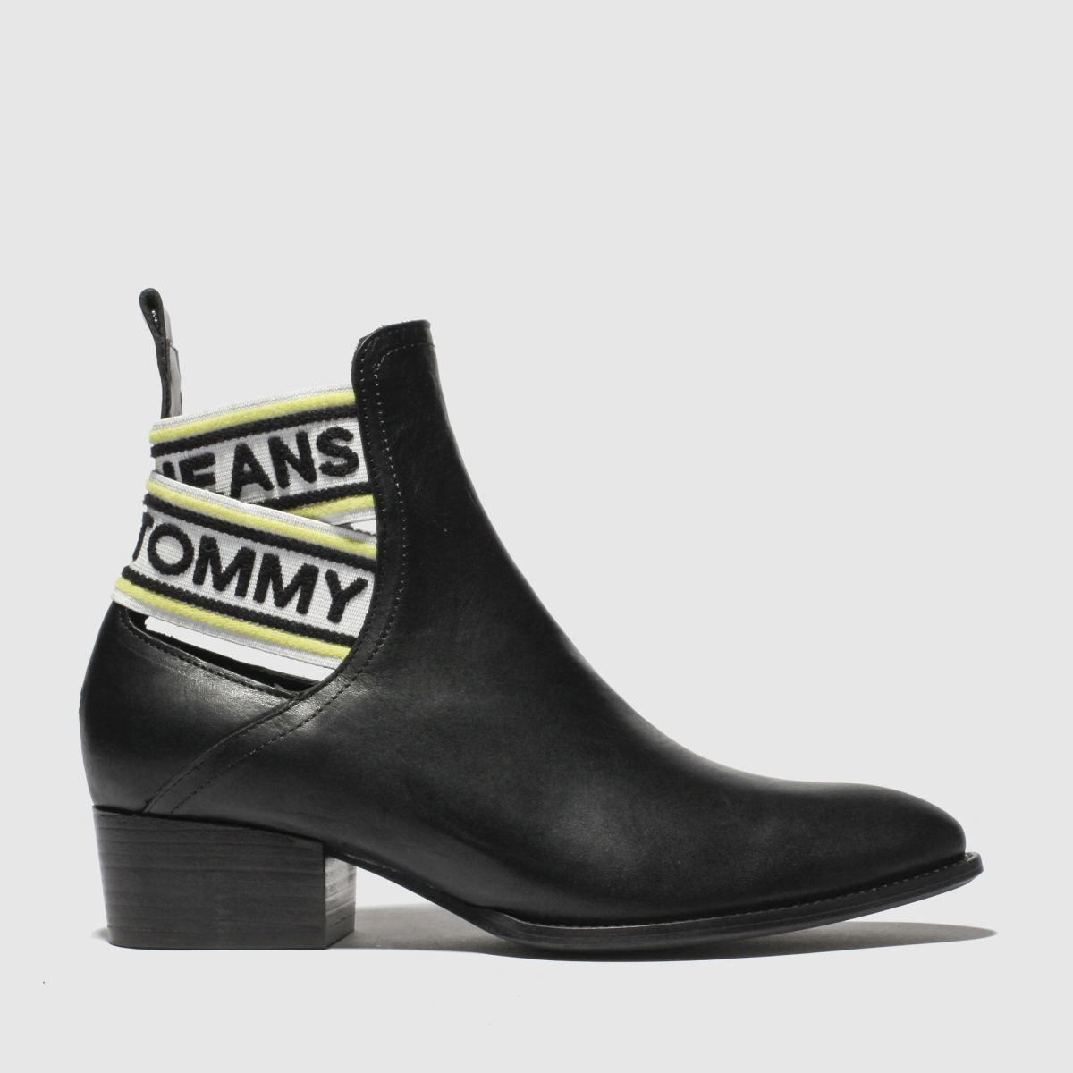 Tommy Hilfiger Black & White Tj Pop Webbing Chelsea Boots