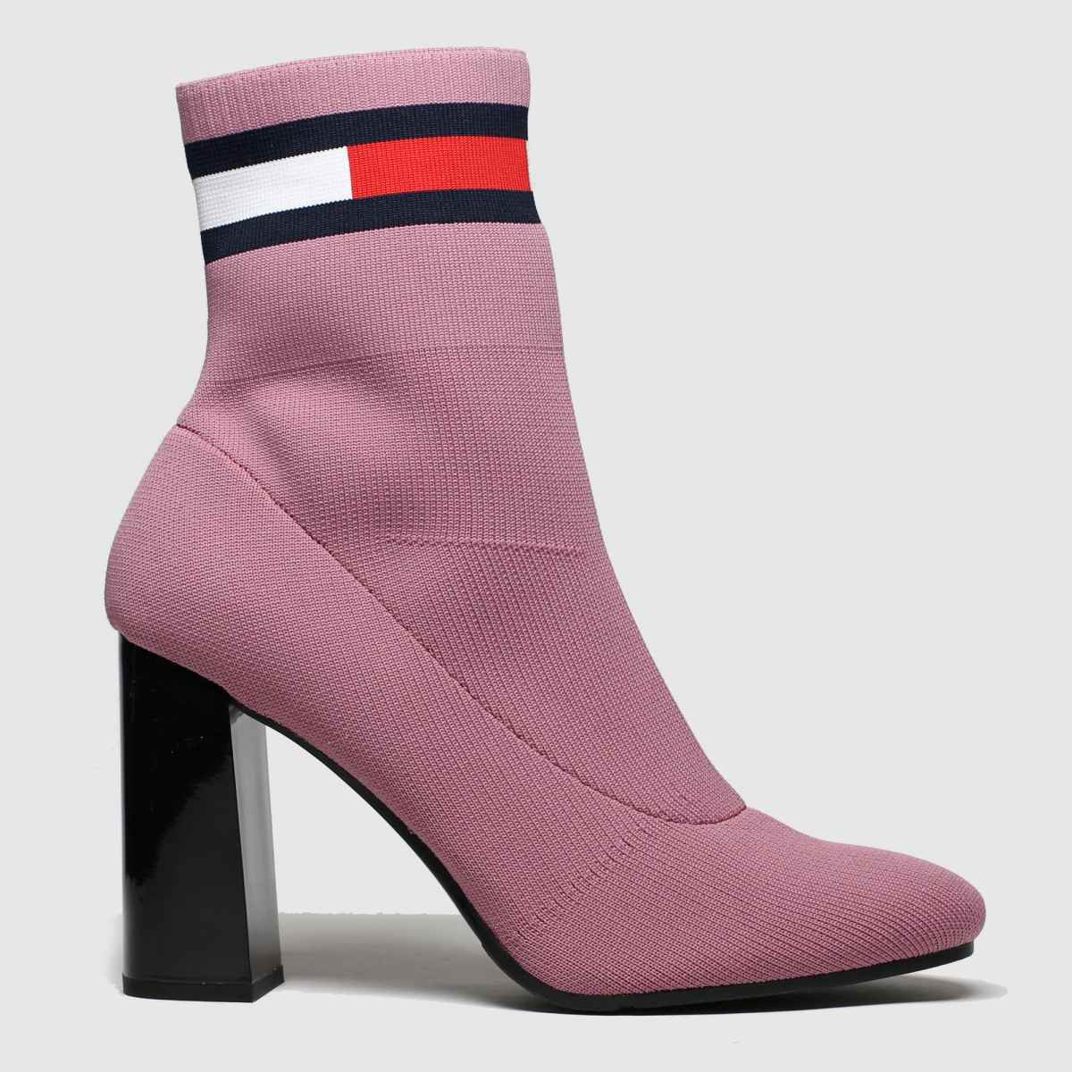 Tommy Hilfiger Pink Sock Heeled Boots
