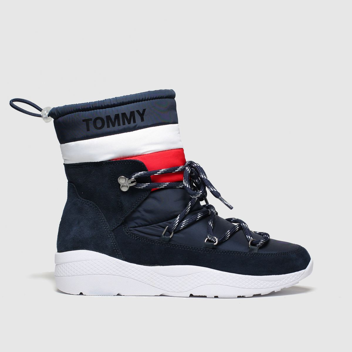 Tommy Hilfiger Navy Th Corporate Padded Nylon Boot Boots