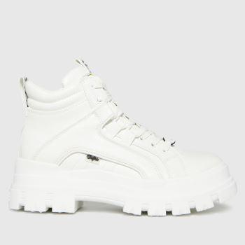 Buffalo London White Aspha Mid Vegan Womens Boots
