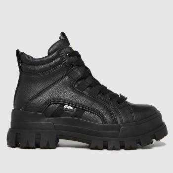 Buffalo London Black Aspha Mid Vegan Womens Boots