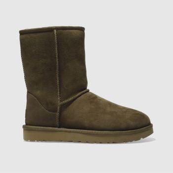 Ugg Khaki Classic Short Ii Womens Boots