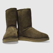 womens khaki ugg classic short ii boots  ec61c7b82