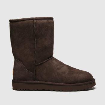 UGG Brown Classic Short Ii Womens Boots