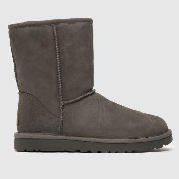 ugg light grey classic short ii boots
